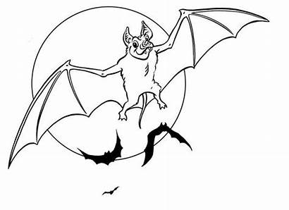 Coloring Bat Pages Halloween Flying Bats Wing