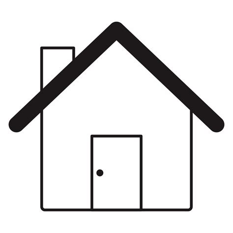 house outline printable printableecom