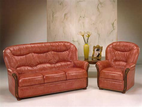 canapé rustique canapé 3 places et fauteuil en cuir vieilli photo 9 10
