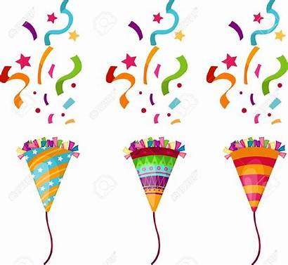 Confetti Streamers Clipart Party Birthday Clipartix Clip