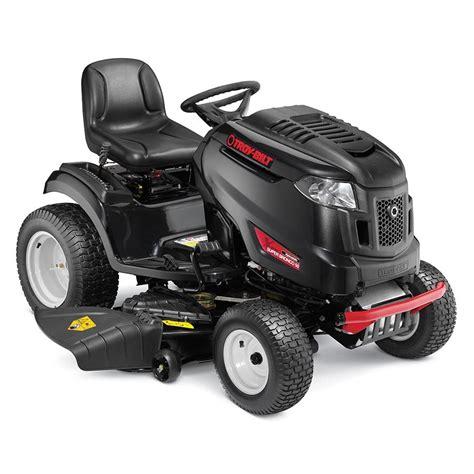 shop troy bilt xp bronco 50 xp 24 hp v hydrostatic 50 in lawn mower at lowes