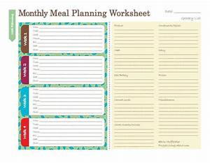 butterflies and daisys vintage break39s over honey With monthly meal planner template with grocery list