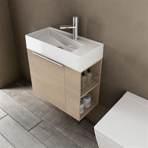meuble de salle de bain et lavabo faible profondeur avec rangement ferm 233 et 233 tag 232 res ouvertes
