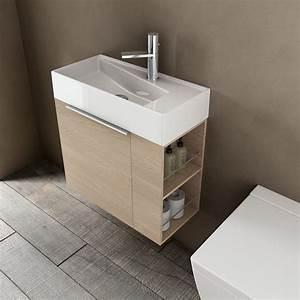 Meuble de salle de bain et lavabo faible profondeur avec for Salle de bain design avec ikea lavabo