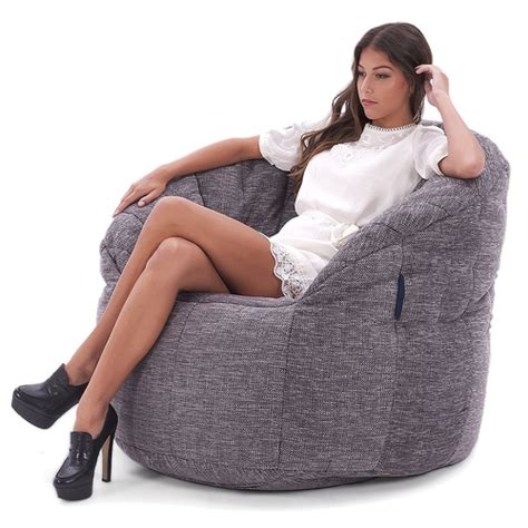 interior bean bags chair butterfly sofa grey
