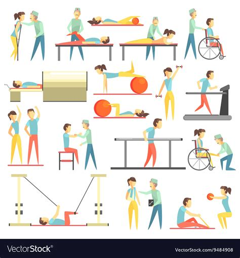 Physical Therapy Clip Physical Therapy Infographic Royalty Free Vector Image