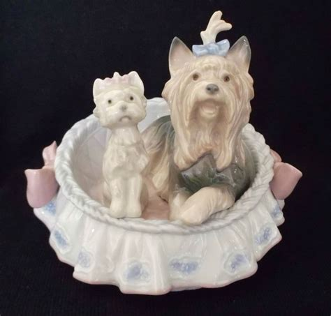 Retired Lladro Figurine  Our Cozy Home Yorkie Dog Puppy Figurines Pinterest Home