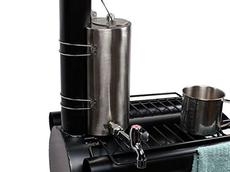 portable military camping wood cooking ice fishing cook