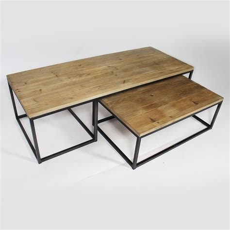 table basse industrielle gigogne   meubles