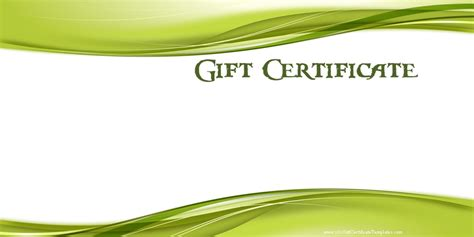 Gift Certificate Template Free by Printable Gift Certificate Templates