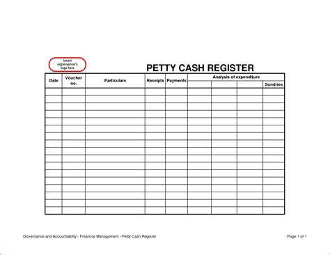 petty cash log example 6 petty cash template bookletemplate org