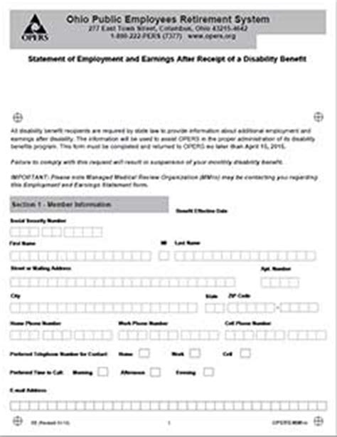opers disability forms got mail get answers