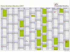 Ferien NordrheinWestfalen 2017 Ferienkalender zum