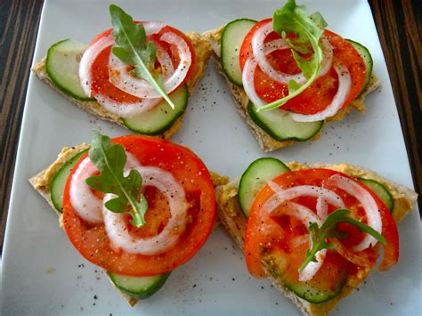 easy vegetarian canapes hummus canapés healthy whole
