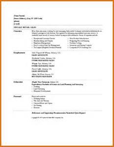 basic resume sles download resume exles for retail resume format download pdf