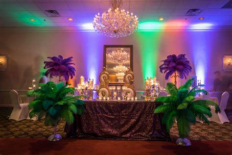 Mardi Gras Themed Wedding Decor  Centurion Images