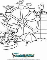 Ferris Wheel Coloring Pages Printable Summer Scribble Fun Designlooter Getcolorings Drawings sketch template