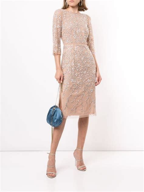 Aidan Mattox Embellished Midi Dress - Farfetch ...
