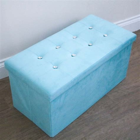 Duck Egg Blue Ottoman by Diamante Duck Egg Storage Ottoman Harry Corry Limited