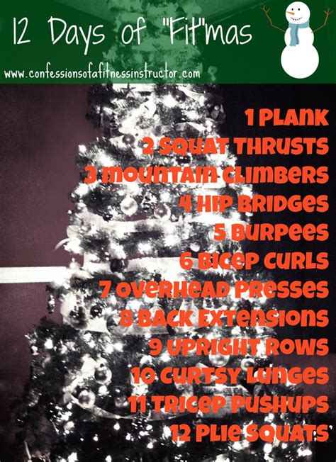 "12 Days Of ""fit""mas  Confessions Of A Fitness Instructor"