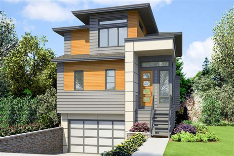 contemporary  story house plan  upstairs master  laundry jd architectural