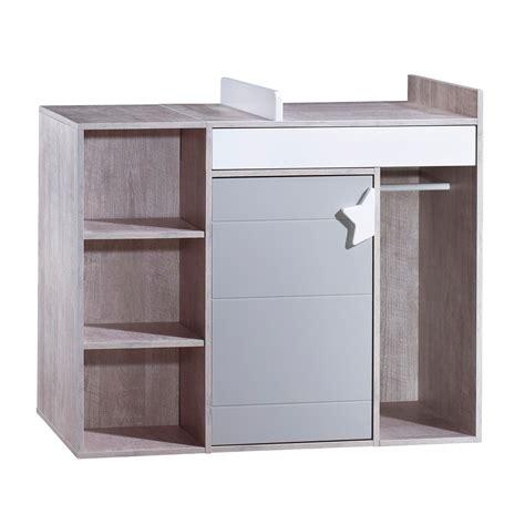 sauthon table a langer commode 224 langer 233 volutive en bureau gris de sauthon easy commodes aubert