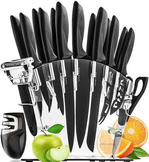 knife kitchen block steel stainless