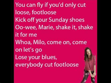 Testo Footloose - soy 2 footloose letra