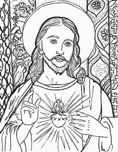 Jesus Coloring Pages Easy Christ Face Drawing