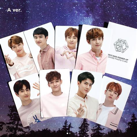 sm town sum 2017 exo power up limited photo card d o ver