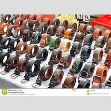 Fake Belt Resembling Designer Brand Being Sold In Bangkok