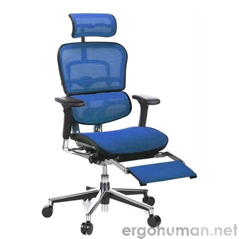 ergohuman ergohuman mesh office chair with leg rest