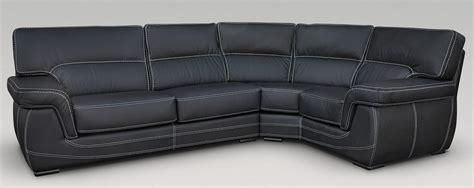 black leather corner settee babylon 3 corner 1 genuine italian black leather