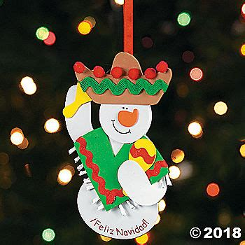 "Feliz Navidad!"" Snowman Ornament Craft Kit Oriental"