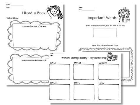 11 best images of kindergarten history worksheets free