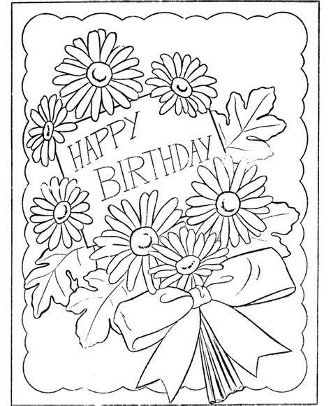 birthday coloring pages getcoloringpagescom