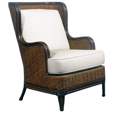 palm outdoor wing chair cushions rattan weave
