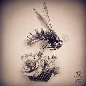 Vintage Queen Bee Tattoo #queenbee #roses | Inspiration ...