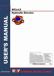 Nov User Manual  Bx Elevators 3  4  5