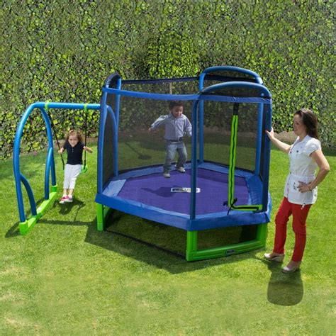 kid swing swing set troline outdoor playground play swingset