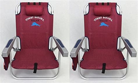 2 tommy bahama backpack beach chairs 2016 red new ebay