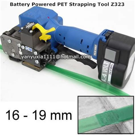 automatic portableelectric battery powered pet pp plastic strapping machine pet hand