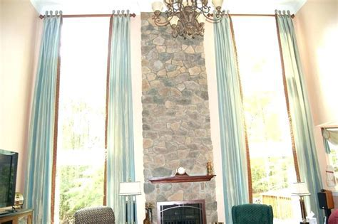 High Ceiling Curtains High Ceiling Window Treatments High