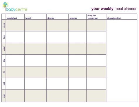 meal plan template google search coach weekly meal