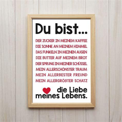 liebe spruch kunstdruck poster a4 geschenk deko wand bild