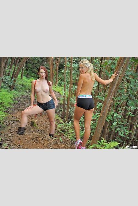 Unbelievably sexy 2 girls forest FTV FTV girls jeans shorts lena nicole lineup Melody Jordan ...