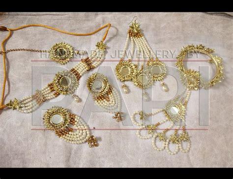 handmade mayon mehndi jewelry   pari designs collection
