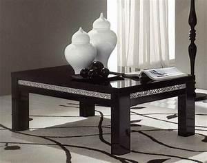 Table Basse Noir Laqué : table basse cromo laque noir noir ~ Teatrodelosmanantiales.com Idées de Décoration