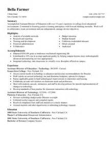 resume sle for preschool assistant assistant director my resume