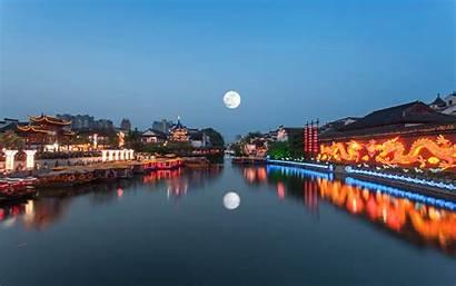 China Moon Nanjing River Artificial Chinese Jiangsu